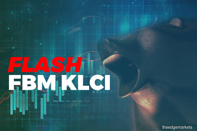 KLCI settles down 3.04 points at 1,588.42 at 12:30pm