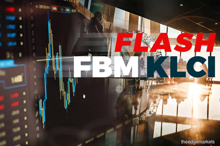 FBM KLCI settles up 9.86 points at 1,662.62 at 12:30pm