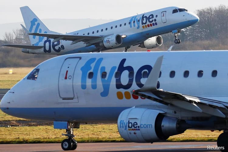 Covid-19 hit to airlines could top US$100b; Flybe collapses