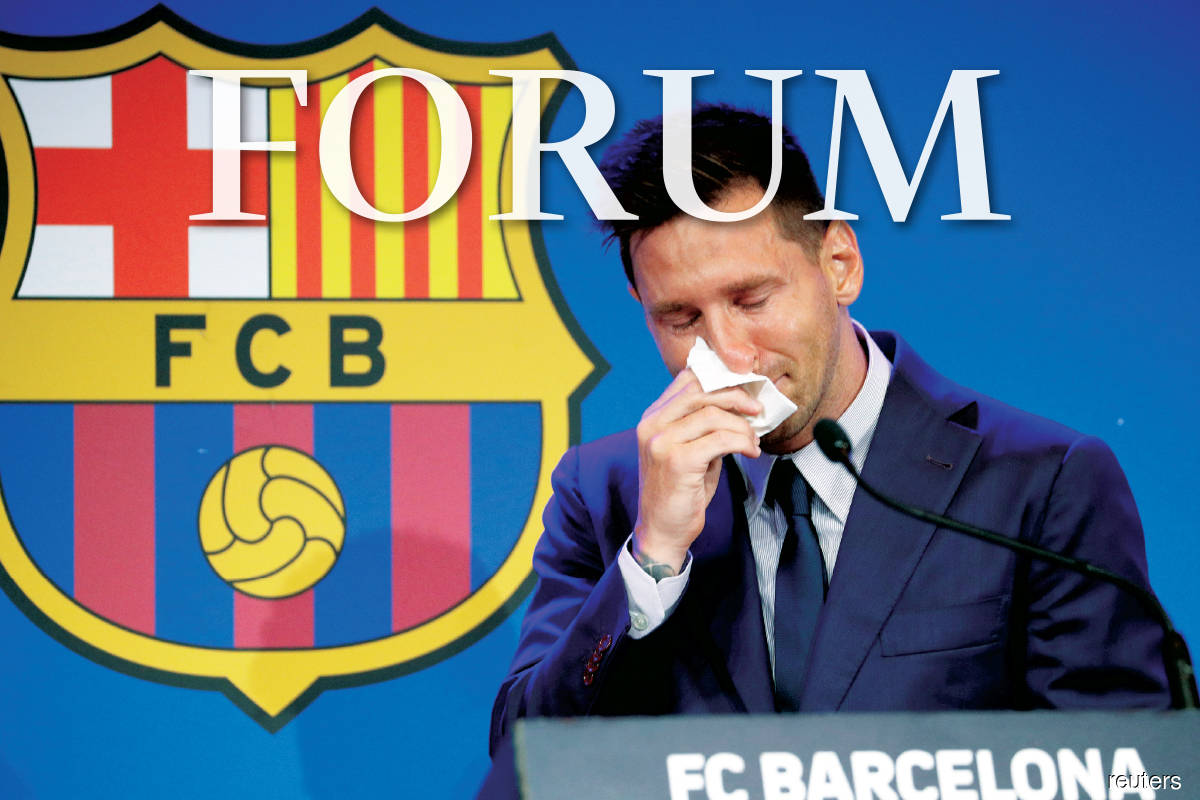 Messi's tears at leaving Barcelona brought into perfect focus the £1 billion morass the club had sunk into, and which triggered his departure