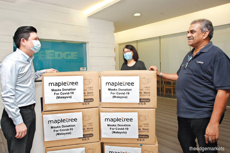The Edge Covid-19 Equipment Fund receives 400,000 masks from Mapletree
