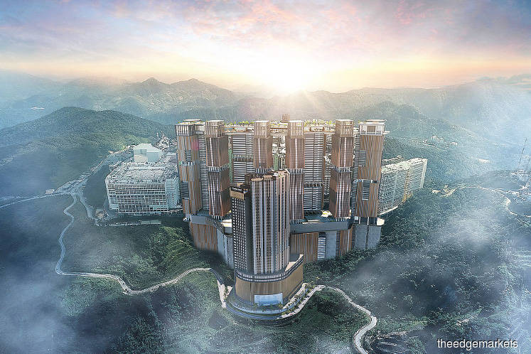 An artist's impression of Genting Sky City. The Genting Group claims that the use of the 'Genting' trade name for the project was done without any prior approval, licence and permission of the group.
