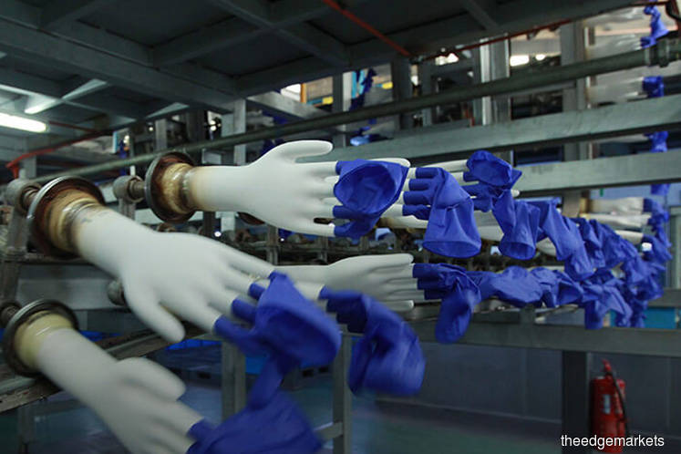Rubber glove makers climb as ringgit weakens