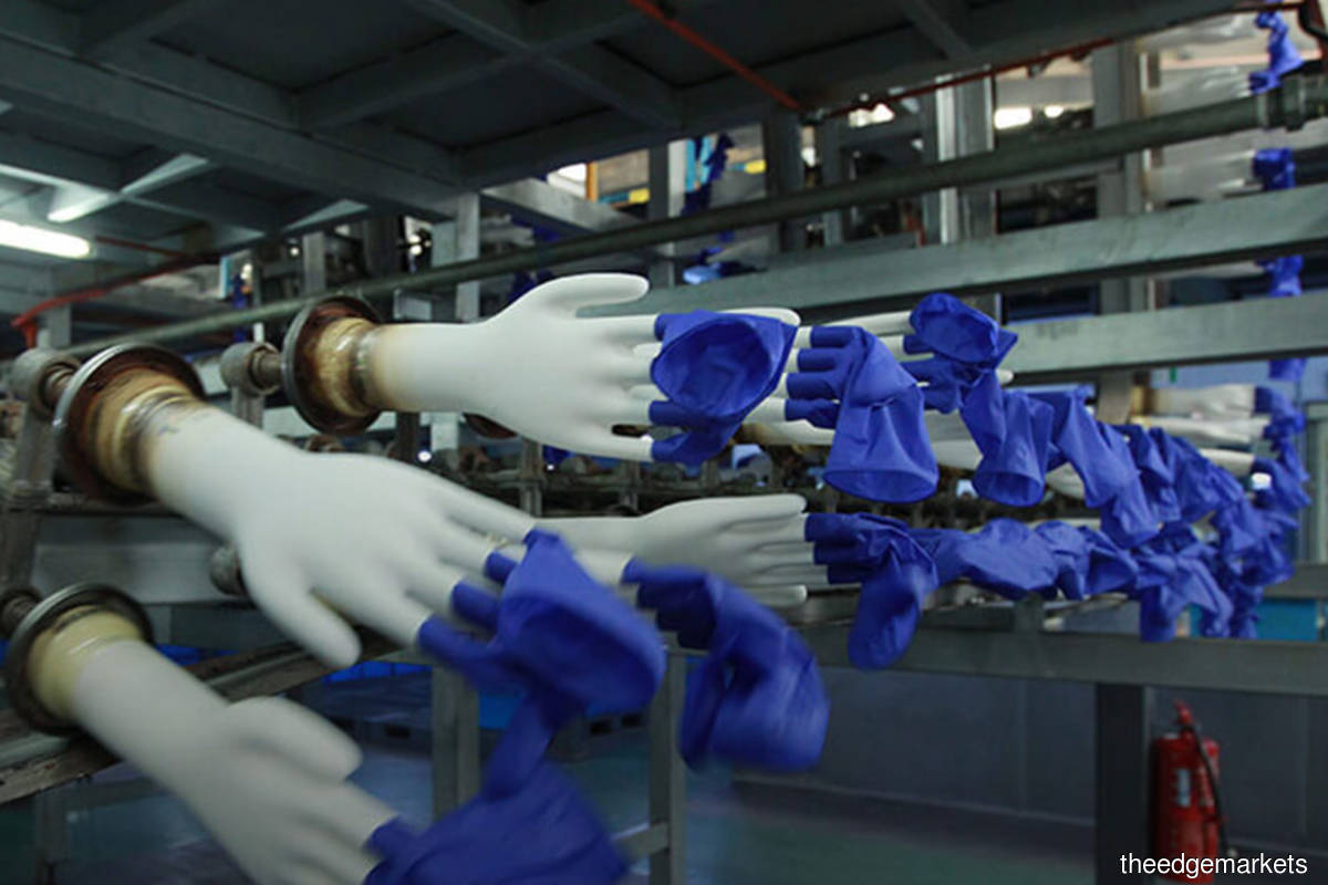 Glove makers rebound, among top gainers