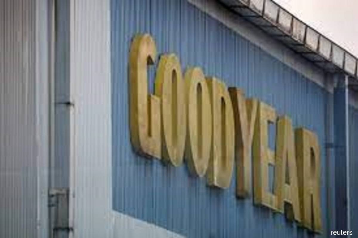 Goodyear logo at Shah Alam factory in Selangor, Malaysia, seen on May 6, 2021. (Photo by Lim Huey Teng/Reuters filepix)