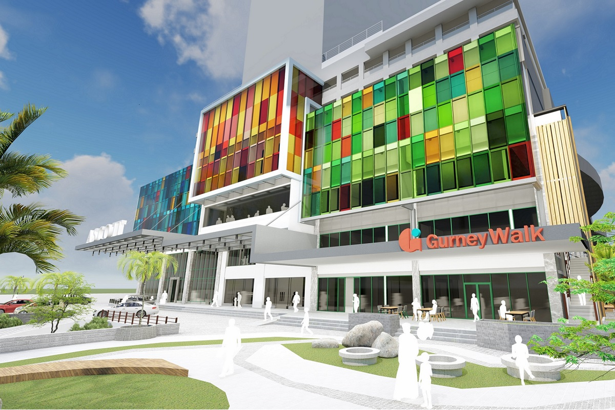 An artist's impression of the facade of Gurney Walk.