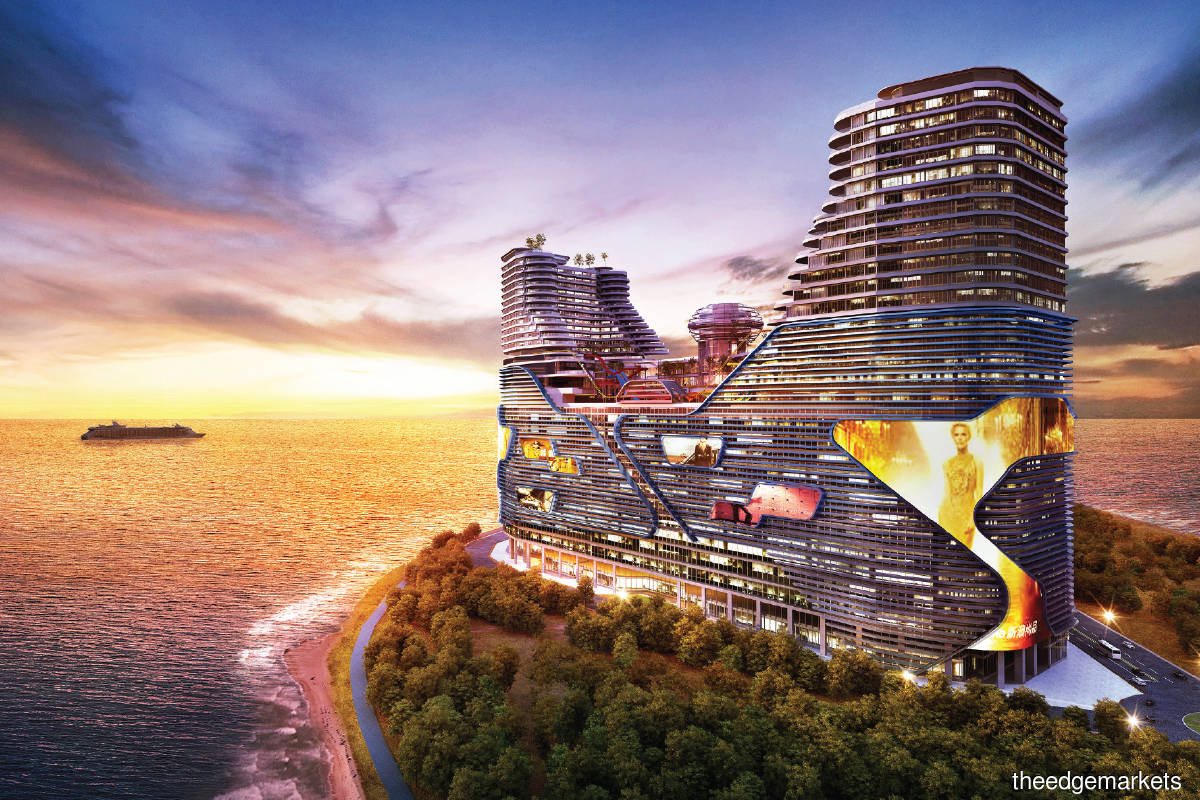 Harbour City is a six-acre marine-themed  development on the reclaimed island of Pulau Melaka, fronting the Straits of Melaka