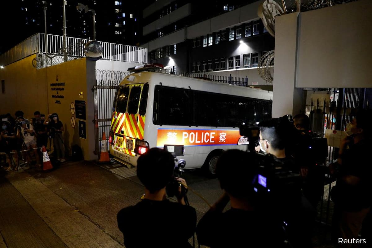 Hong Kong police arrest four under national security law