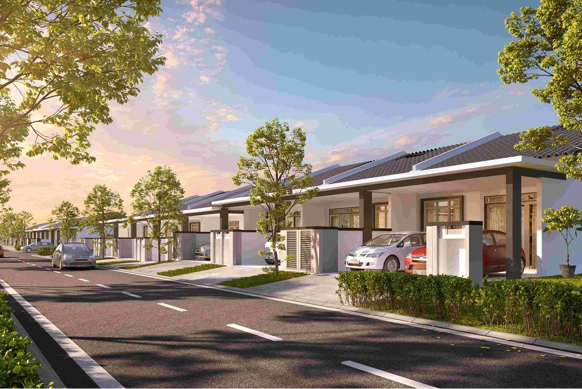 Rimbun Aman, an affordable and comfortable single-storey terraced home catered to first-time homebuyers, young modern families and empty nesters.