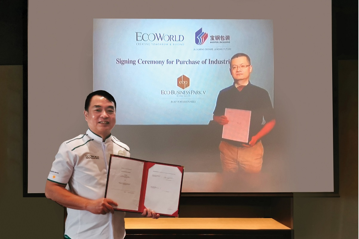 EcoWorld inks deal with Baosteel Malaysia for sale of 16.32 acres of industrial land
