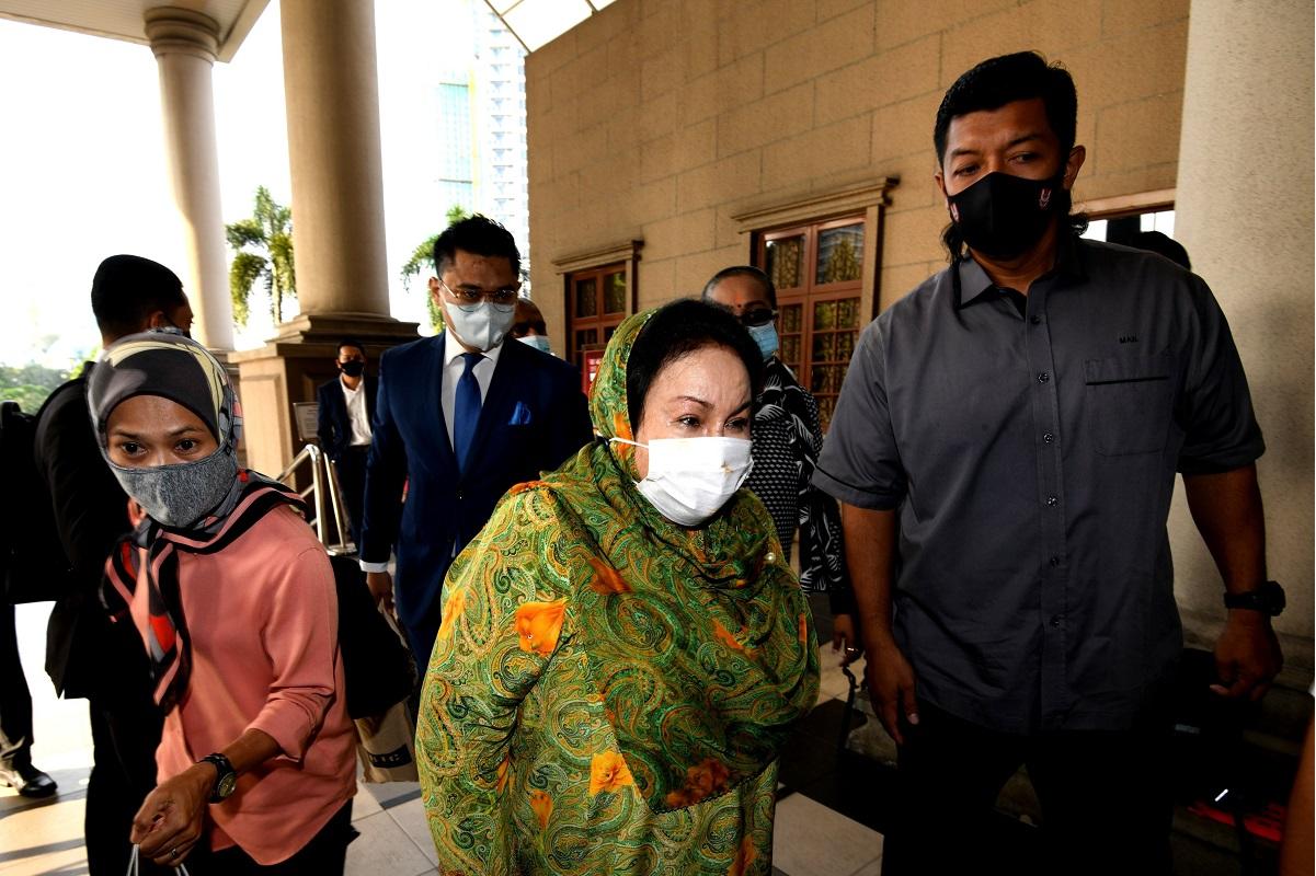 Datin Seri Rosmah Mansor at the Kuala Lumpur Court Complex today. (Photo by Shahrin Yahya/The Edge)