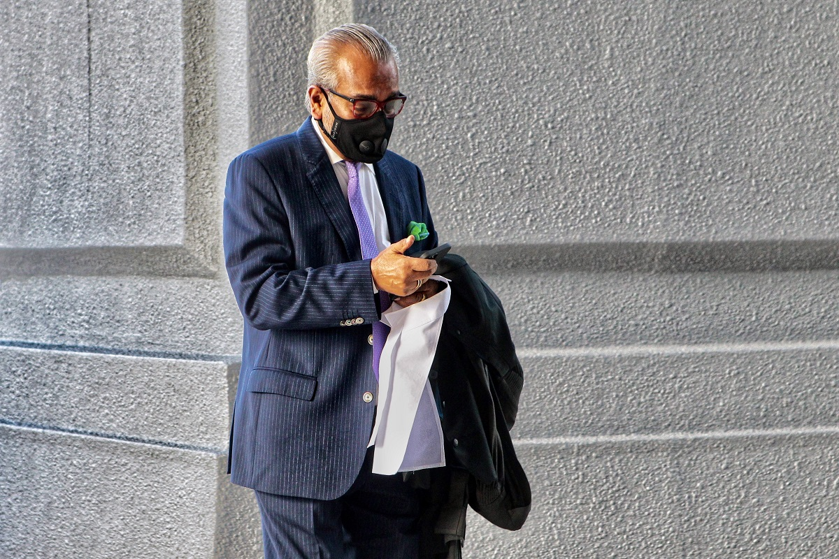 Shafee as seen at the Kuala Lumpur Court Complex on July 15. (Photo by Zahid Izzani Mohd Said/The Edge)