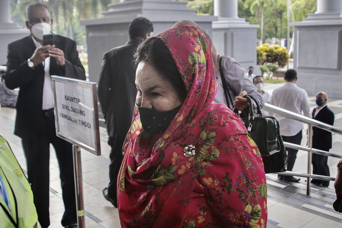 Rosmah: In fact, I should have been the witness to testify against him, and not the other way round. Rizal is now saying or putting the case on me so that he would be freed of the charges himself. (Photo by Zahid Izzani Mohd Said/The Edge)