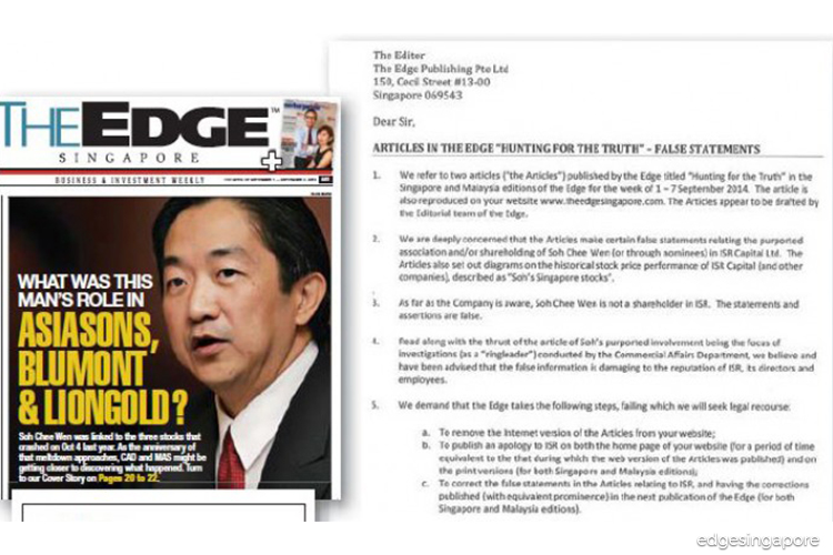 Hunting for the truth redux: The Edge Singapore's coverage of the penny stock saga attracted threats and lawsuits