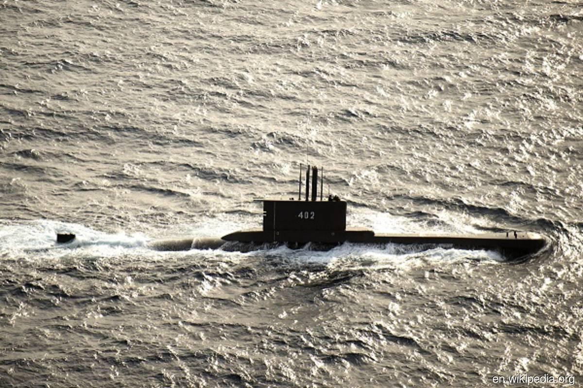 Filepix of Indonesian submarine KRI Nanggala-402 underway in August 2015. (Photo credit: en.wikipedia.org)