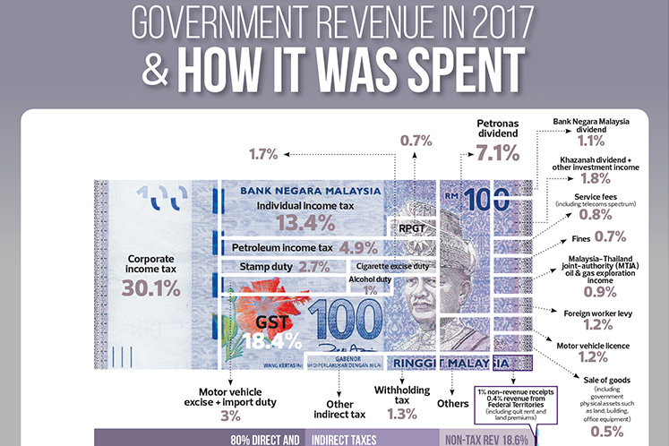 Government revenue in 2017 & how it was spent
