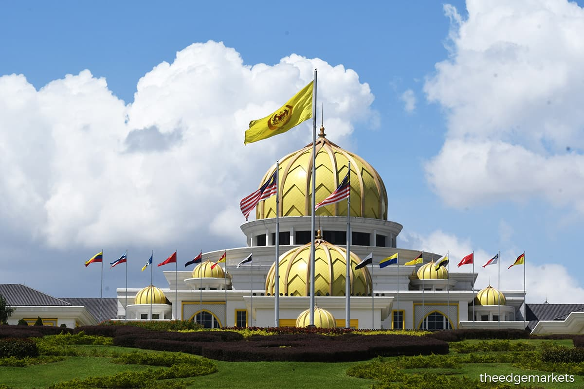 Istana Negara in Kuala Lumpur. According to the Comptroller of the Royal Household of Istana Negara, the visit of Al-Sultan Abdullah andTunku Azizah to the UK is from today until Sept 27. (Photo by The Edge)