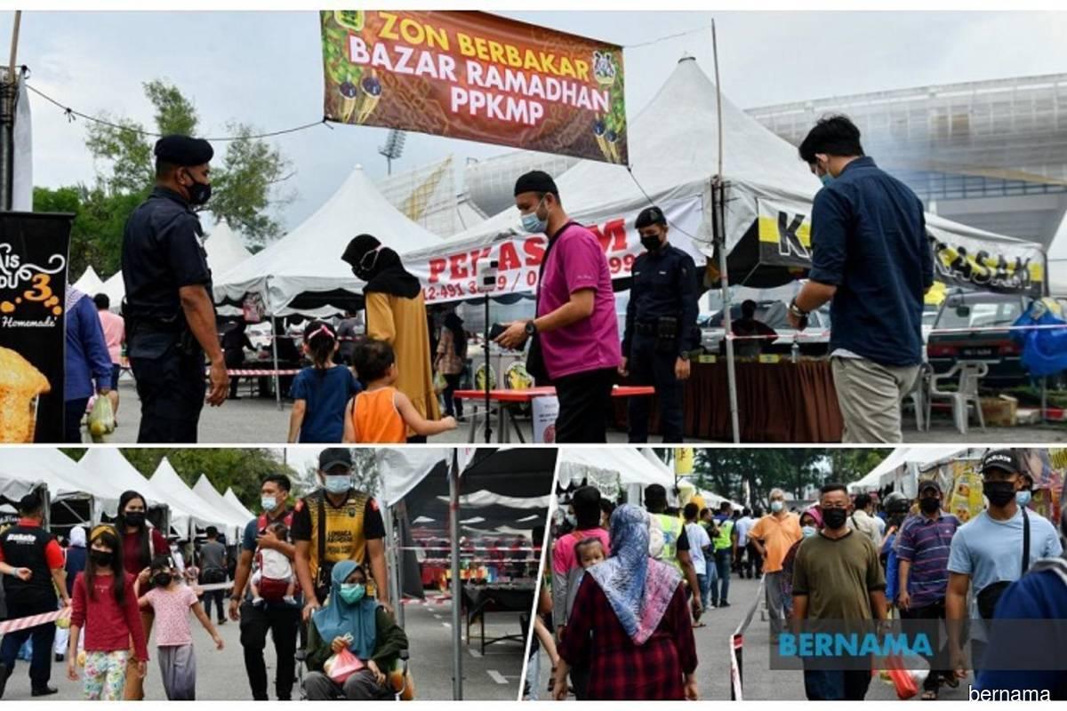 Jalan Canning Estate Cluster: Tight control at Perak Stadium Ramadan bazaar