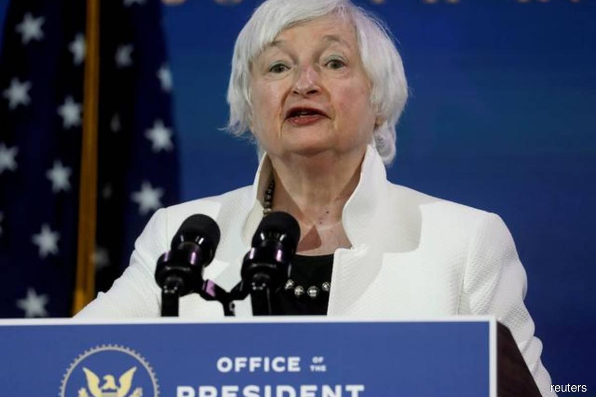 US Treasury Secretary Janet Yellen (Reuters filepix by Leah Millis)
