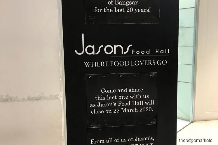 Jasons Food Hall in Bangsar to shut down after 20 years