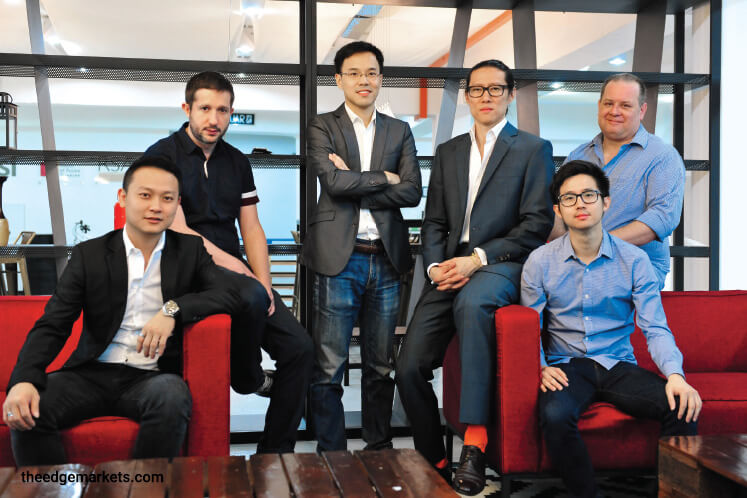 (From left) Co-founders Wong, Vivier, Liew, Siew, Ooi and Barnes