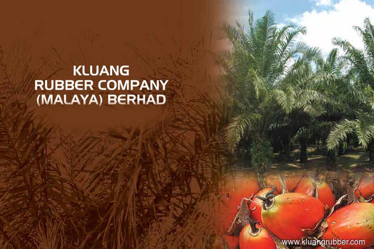 Kluang Rubber declares total dividends of 6 sen