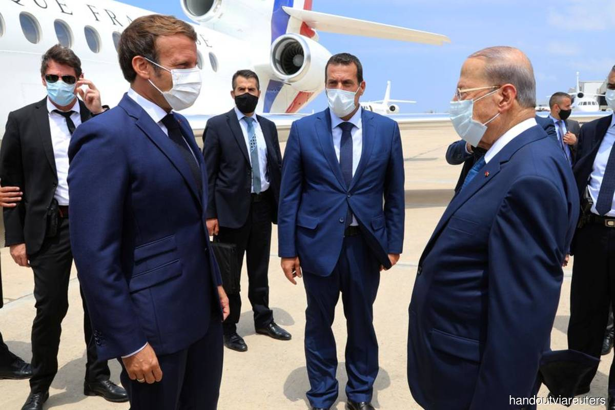 Macron promises to help mobilise aid for Lebanon after massive blast