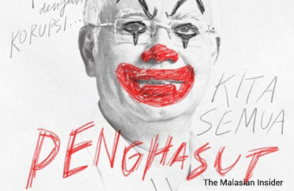 Graphic artist in trouble after clowning with Najib's picture