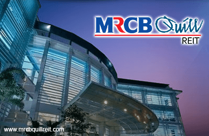 MRCB-Quill REIT's 4Q realised net income up 92.5%, declares DPU of 4.37 sen