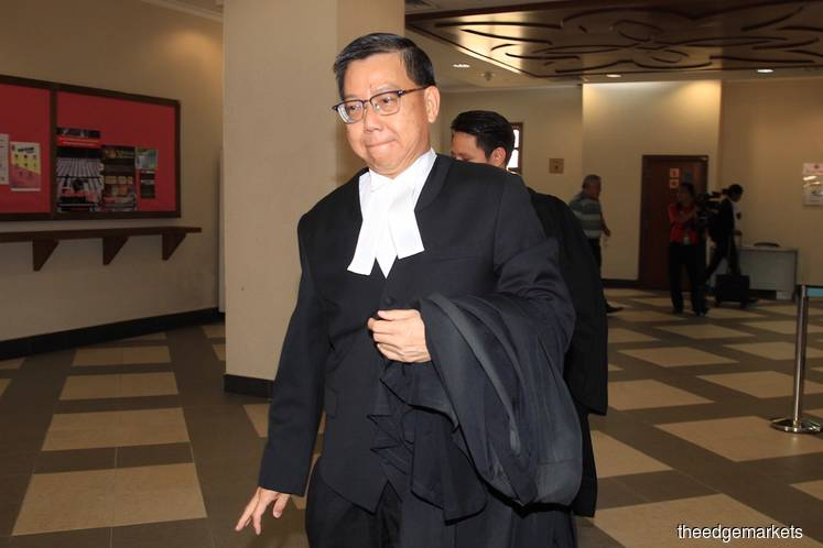 Roger Ng's counsel Datuk Tan Hock Chuan (Photo by Shahrin Yahya/The Edge)