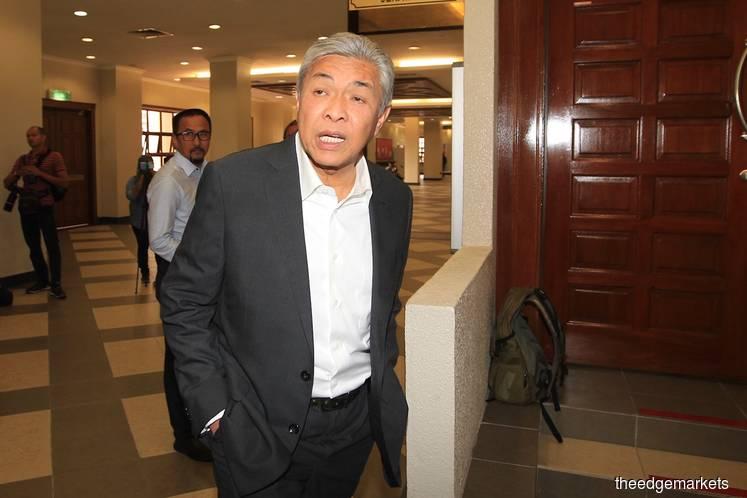 Datuk Dr Ahmad Zahid Hamidi (Photo by Shahrin Yahya/The Edge)