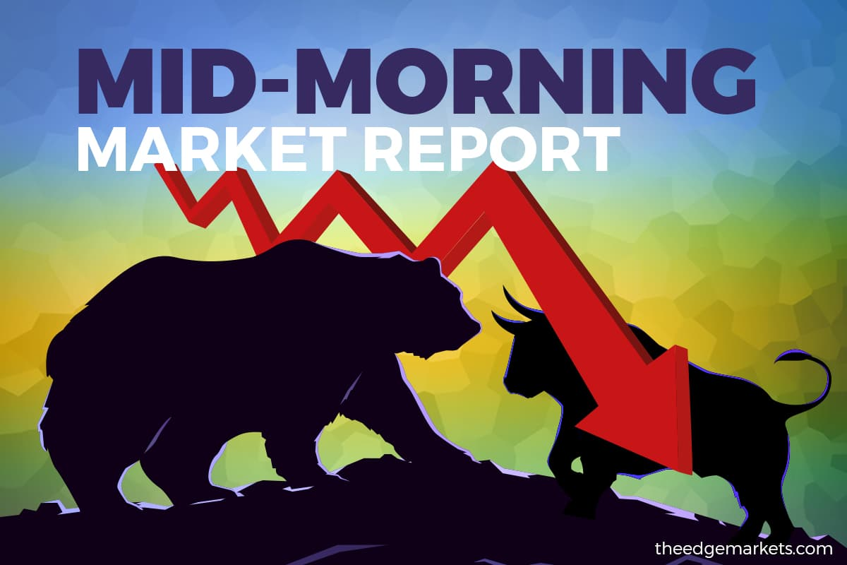 Bursa remains lower in mid-morning