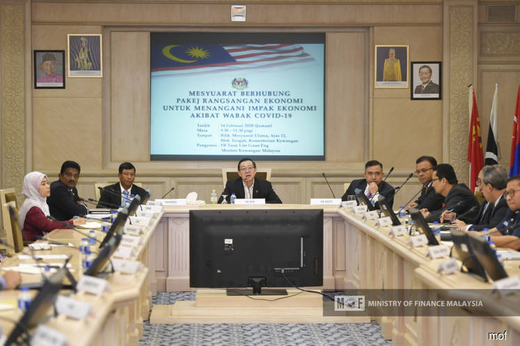 Finance Minister Lim Guan Eng at a stimulus package consultation session. (Photo: Finance Ministry)