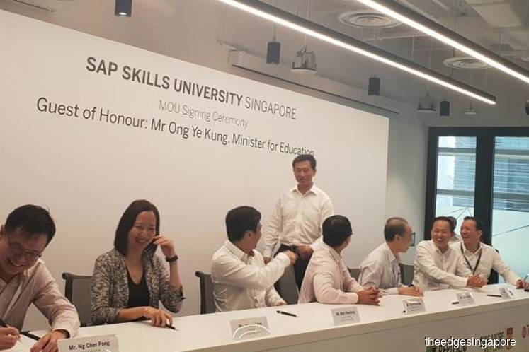 SAP signs MoU with polytechnics and SkillsFuture to launch tri-sector education programme