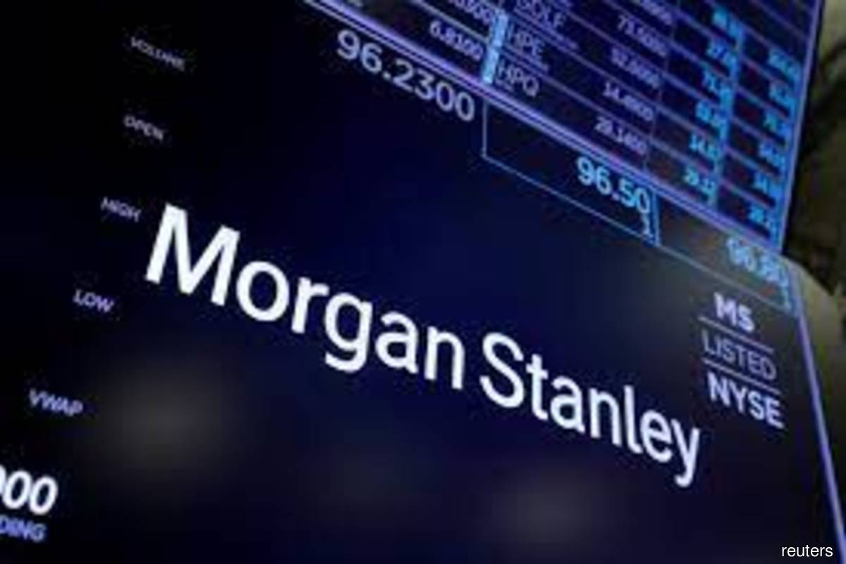 The logo for Morgan Stanley is seen on the trading floor at the New York Stock Exchange (NYSE) in Manhattan, New York City, US on Aug 3, 2021. (Photo by Andrew Kelly/Reuters filepix)