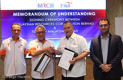 MRCB inks MoU with TM to wire up its developments with telco, IoT abilities