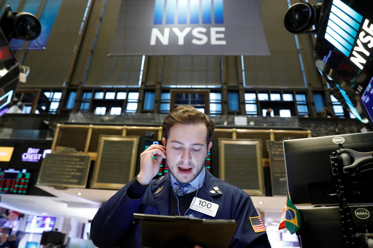 Bumper jobs data, upbeat trade tone push Wall Street higher