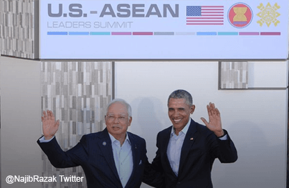 PM Najib tweets pix with Obama at US-Asean Summit