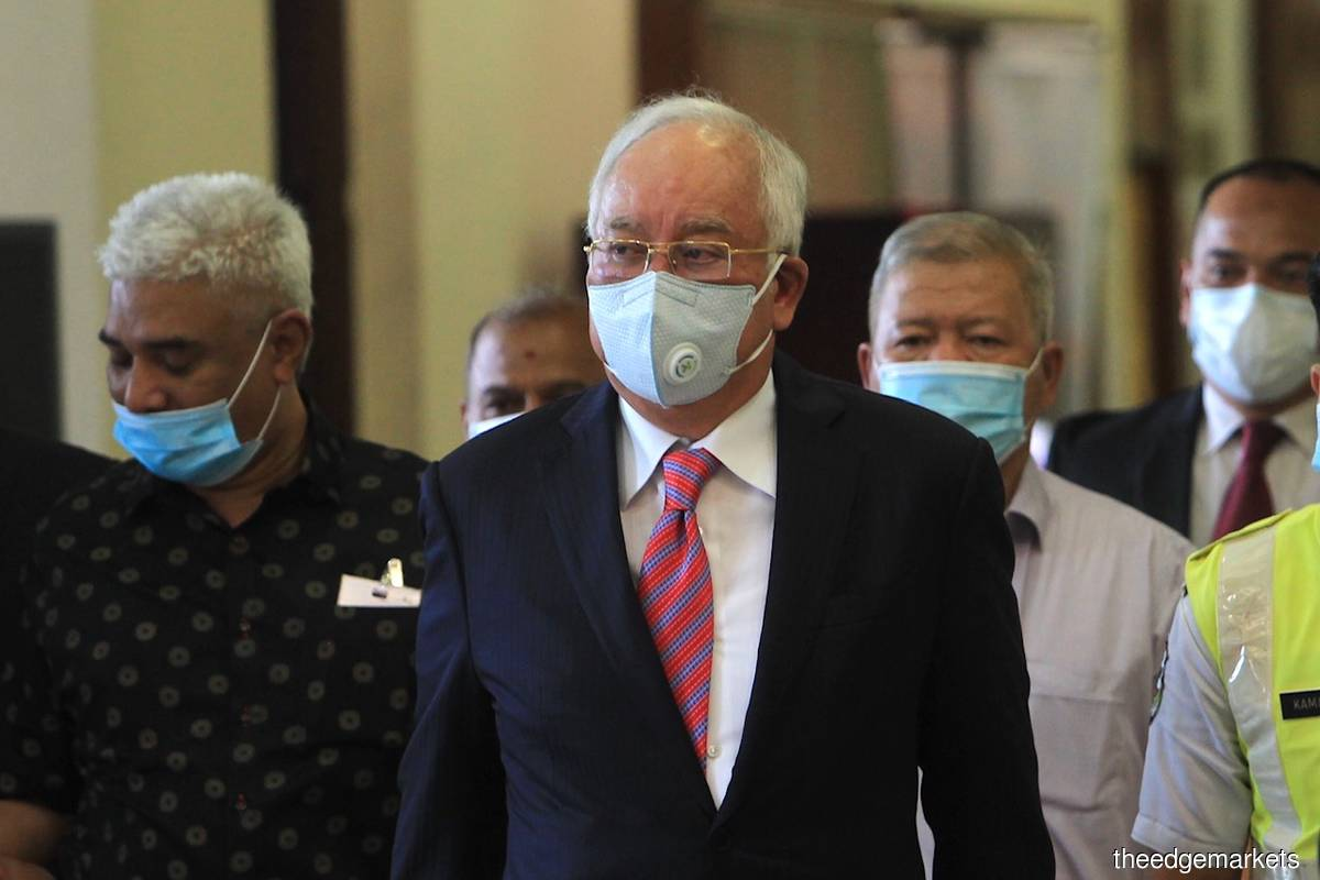 Najib back in court for the first time as a convicted felon