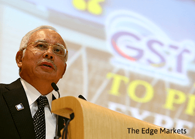 PM Najib to elaborate on Malaysia's GST income during Budget 2016