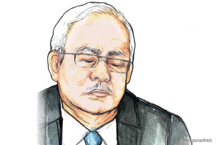 Najib's SRC trial:  Najib comes down with sore eyes