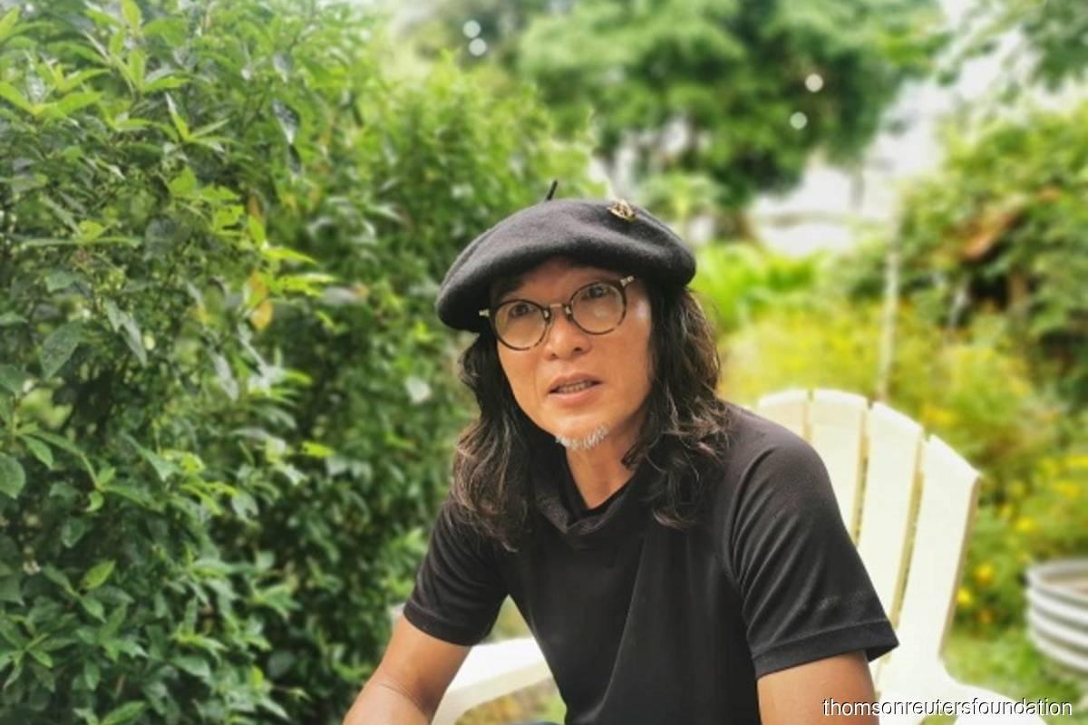 Ng Sek San, founder of Kebun-kebun Bangsar community garden, speaks during an interview in Kuala Lumpur, Malaysia on April 3, 2021. (File photo credit: Beh Lih Yi/Thomson Reuters Foundation)