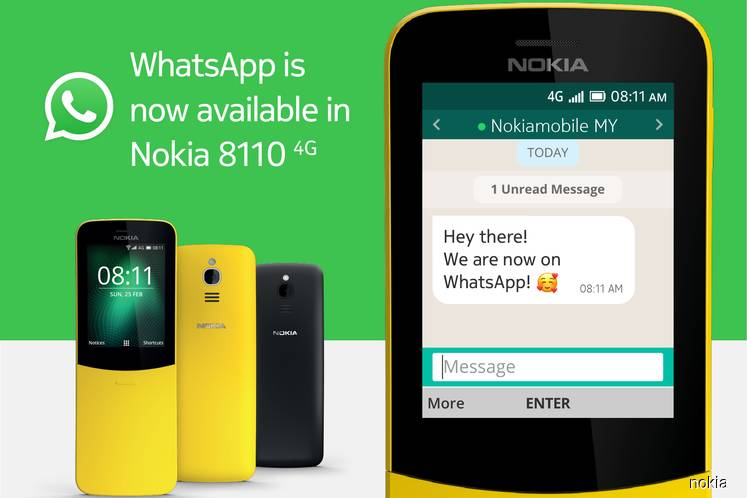 Messaging app WhatsApp now available on Nokia 8110