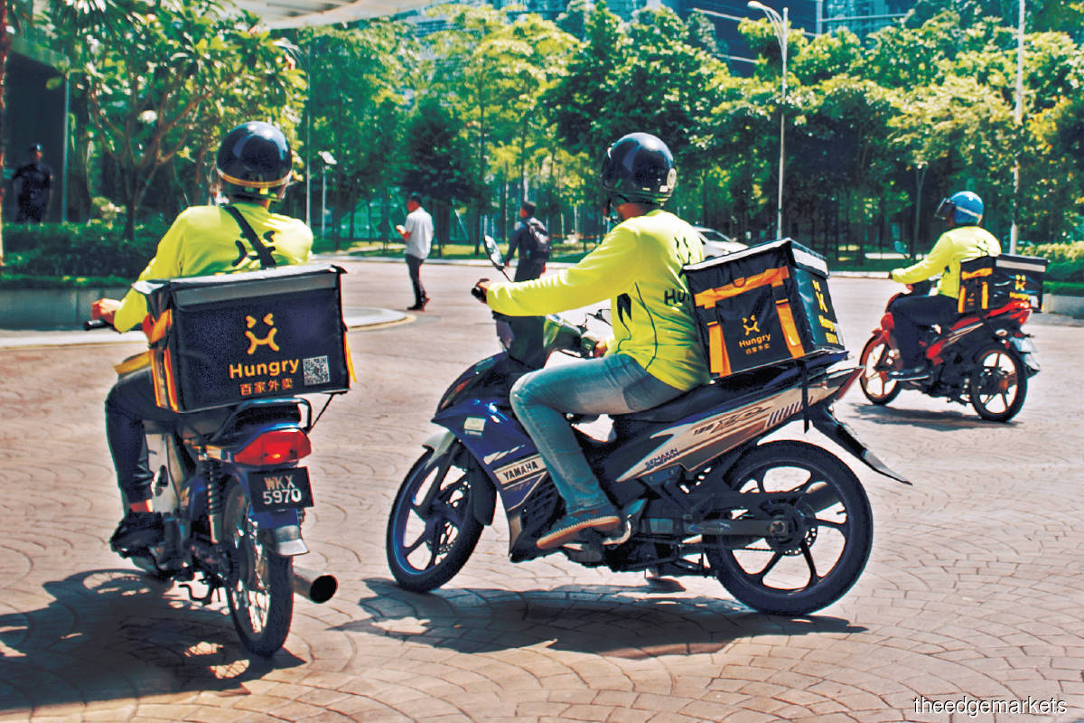 Hungry, one of PUC's partners, has more than 18,000 registered merchants and over 7,000 registered riders