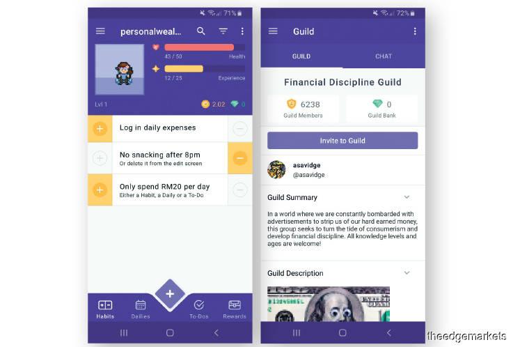 Financial Hacks: Helping users build good habits