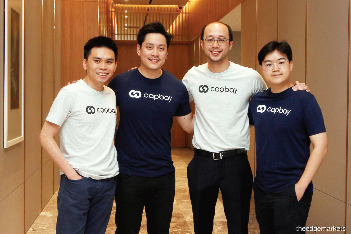 From left: Ang, Darrel, Dion and chief operating officer Edwin Tan (Photo by Mohd Izwan Mohd Nazam/The Edge)