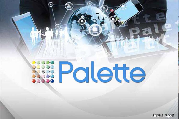 Palette Multimedia extends loss, falls 13.7% at noon break