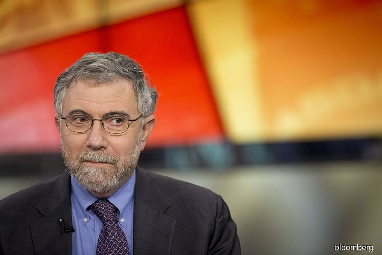 Paul Krugman is pretty upbeat about the economy
