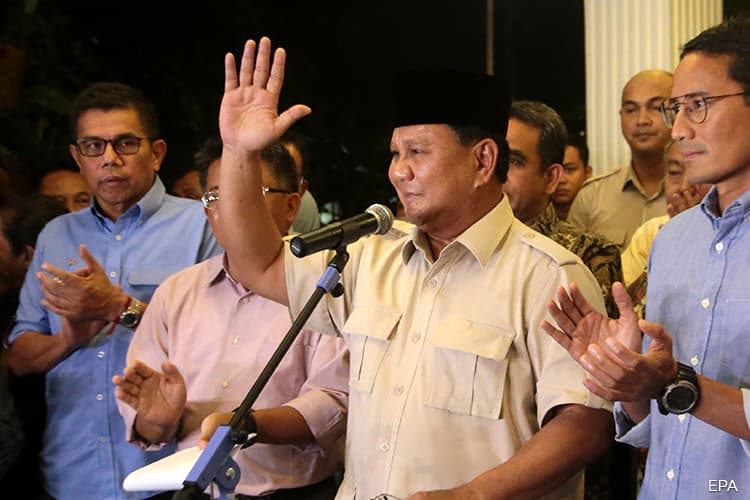 After Two Defeats, Prabowo Still Aims for Indonesia's Presidency