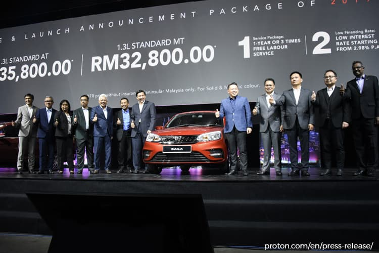 Proton Launches 2019 Saga Prices Start From Rm32 800 The